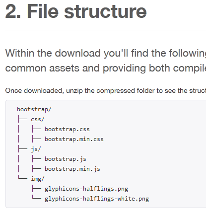 bootstrap-structure